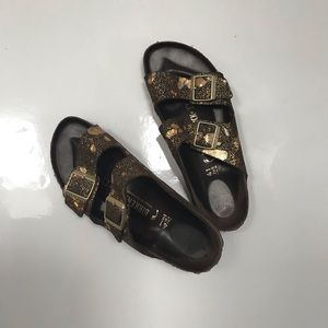 Birkenstock metallic splatter Arizona sandal